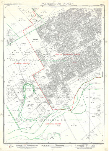 NZ Cadastral Map - Town Series: Palmerston North Map 4