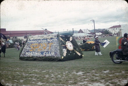 Boating Club float in Floral Festival parade