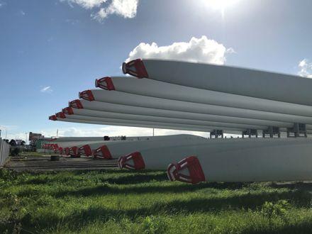 Turitea Wind Farm parts in Storage on Rangitikei Street