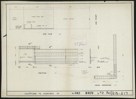 Architectural Plans for Ward Bros site, corner of Cuba Street & Lombard Street 7