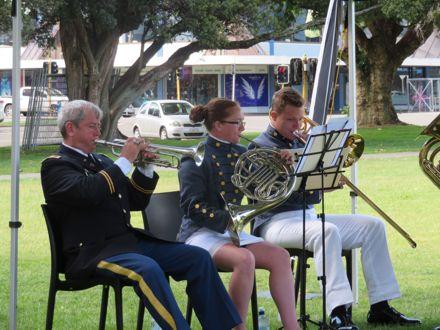 Virginia Military Institute Brass Ensemble perform in The Square