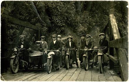 Group of men on their motor bikes