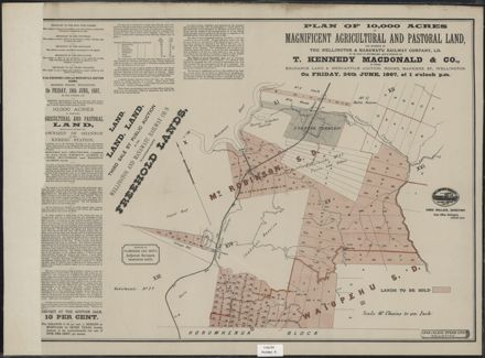 Plan of land for sale near Shannon