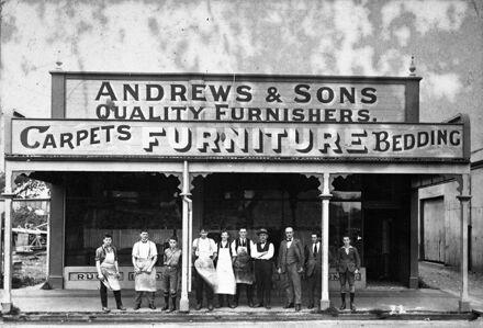 Andrews & Sons Furnishers, Rangitikei Street