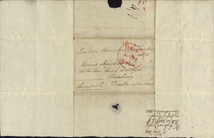 Handwriting and signature of Earl of Liverpool