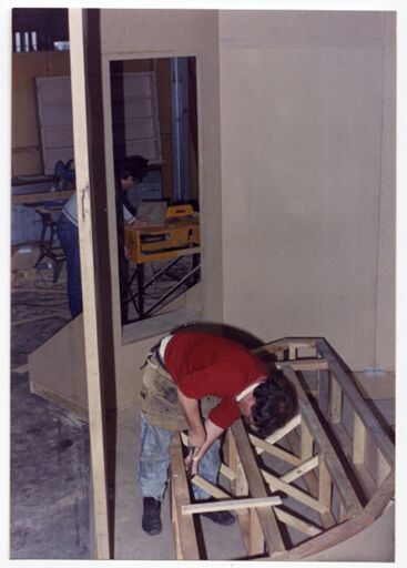 Les Berry During Set Construction – Little Shop of Horrors