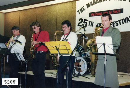 Group performing at 25th Manawatu Jazz Festival