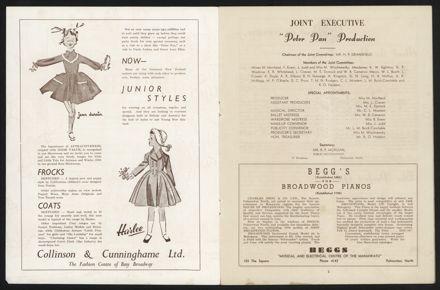 Peter Pan Programme, Palmerston North Opera House2
