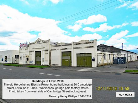 The old Horowhenua Electric Power board buildings at 20 Cambridge street Levin 12-11-2018