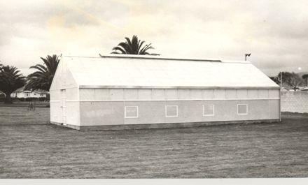 L.B.C's new glasshouse, Levin Park Domain, 1969