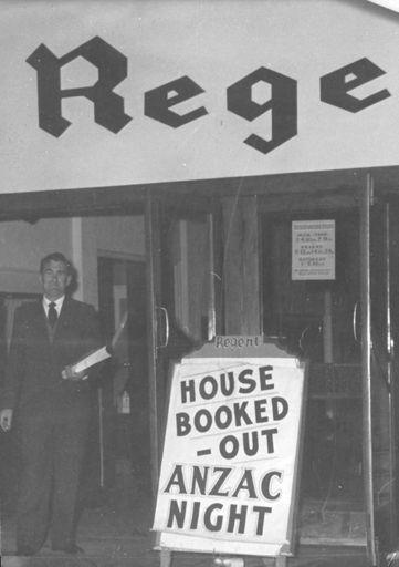 Regent Theatre entrance - 'ANZAC Night'
