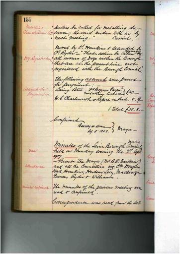 Meeting 44 - 2 September 1907