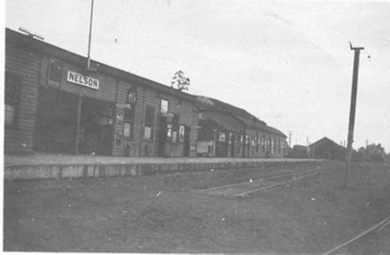 Nelson Railway Station, 1927 or 1928