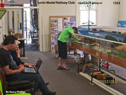 IMG_1352 Levin Model Railway Club Repair work going on