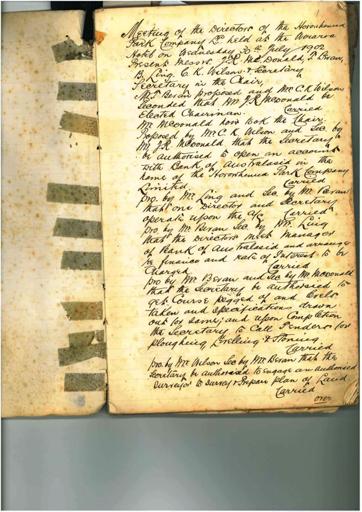 Horowhenua Land Company minutebook Page 1