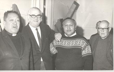 Group of men (Rev Wi Huata, ?, Rev Pura Panapa, ?.