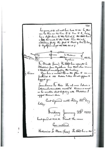 Otaki Maori Land Court Minutebook - 23 January 1880.