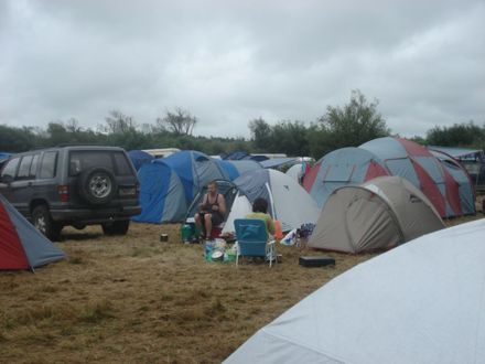 Camping at the Festival