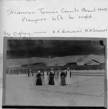 Shannon Tennis Courts, c.1908 - Negative