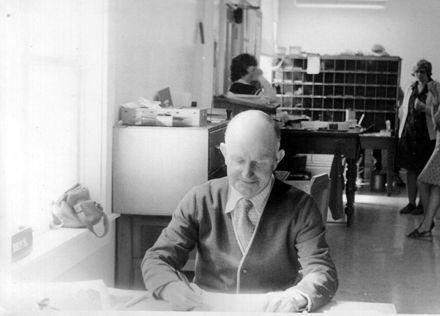 Fred Tremewan, Senior Clerk, Shannon Post Office, c.1978