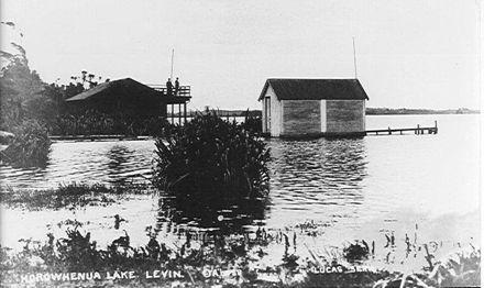 Boathouse, Lake Horowhenua, c.1913