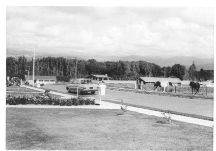 Burn St., looking east (from Glen St. ?), 1969