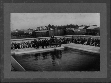Opening Foxton Swimming Baths, 1927
