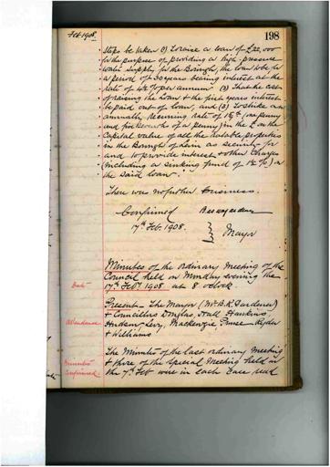 Meeting 58 - 17 February 1908