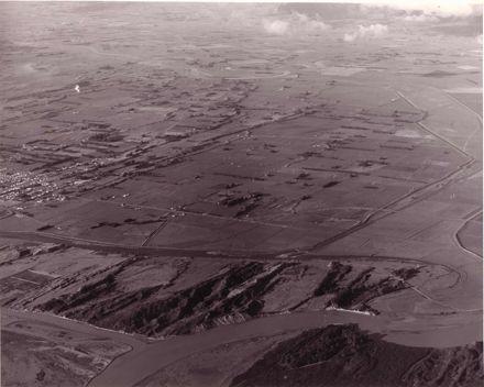 Aerial view - Foxton River Loop looking east, 1976