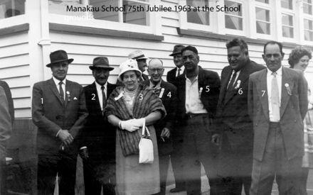 Manakau School 75th Jubilee 1963 at the School grounds n