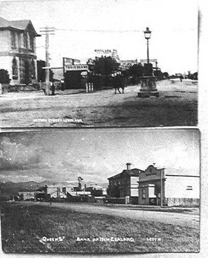 Photo of 2 postcards of Levin