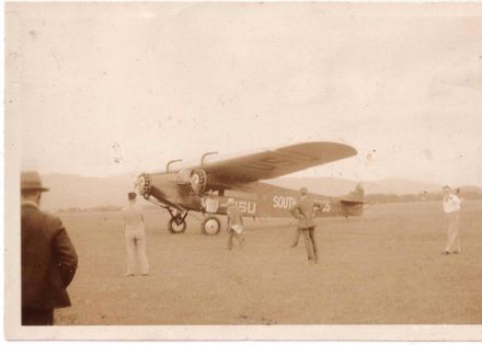 """Kingsford-Smith's """"Southern Cross"""" aircraft, 1928"""
