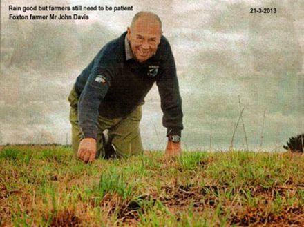 Foxton farmer Mr, John Davis
