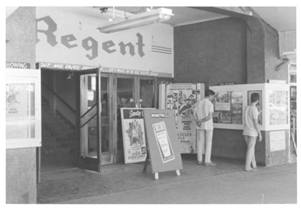 Entrance to Regent Theatre, Oxford St., 1970