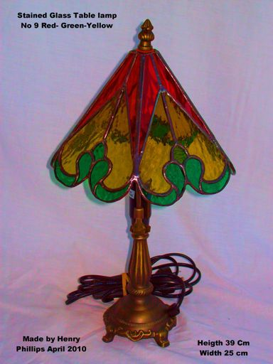No 9 Red and Yellow Table lamp