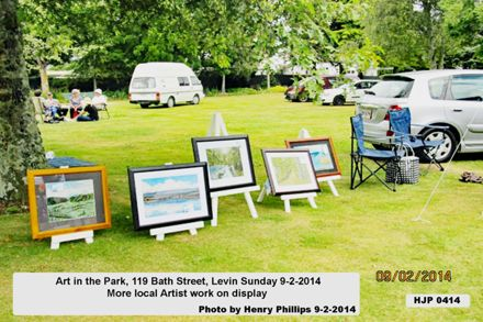 Art in the Park, 119 Bath Street, Levin Sunday 9-2-2014   More local Artist work on display