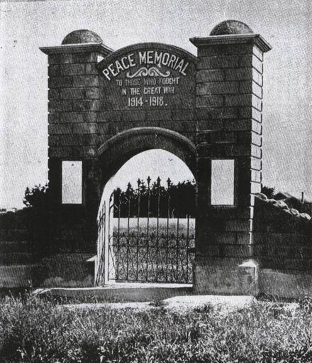 Weraroa Peace Gate
