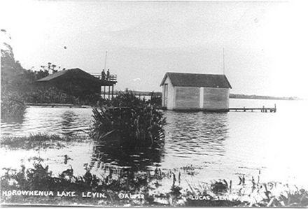 Boathouse Lake Horowhenua, c.1913