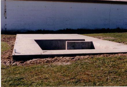 Flax Stripper Museum - Concrete Base Foundation, 1990