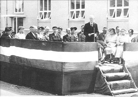 Memorial Hall opening, February 1956