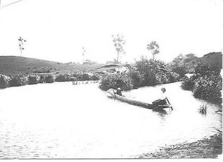 Canoe on Hokio Stream