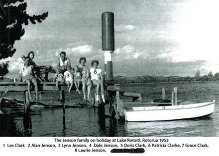 Laurie Jenson family on holiday at Rotorua 1953