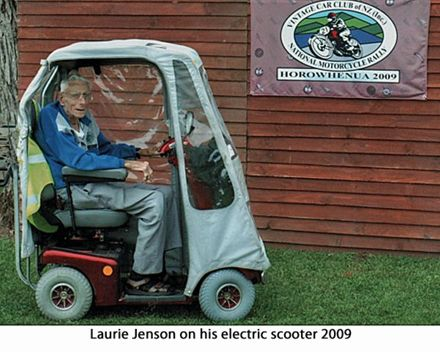 Laurie Jenson on his electric scooter 2009