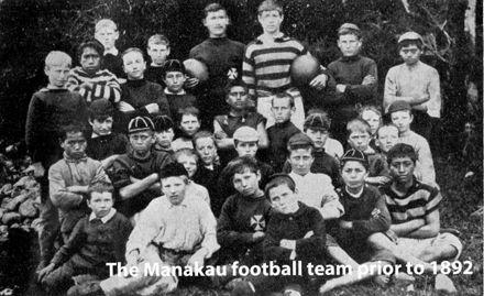 Manakau School Football Team prior to 1892