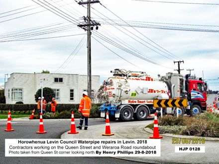 HJP0128 Horowhenua Levin Council Waterpipe repairs in Levin. 2018