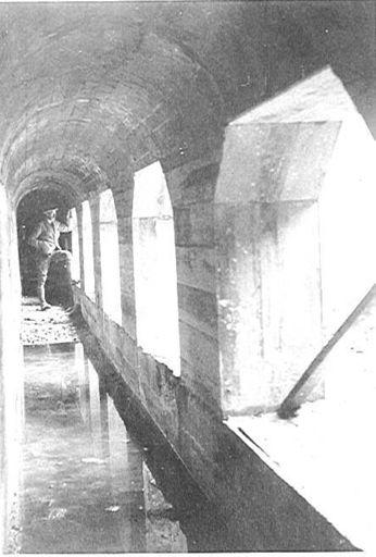 Mangahao Dam flood-gate gallery, 1920's