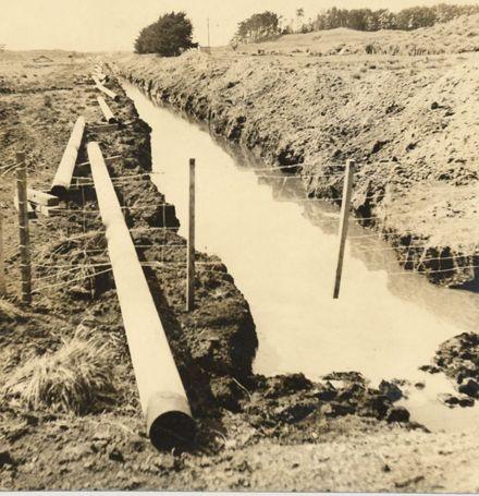 Kapuni gas pipeline, Waitarere Beach Road, 1969