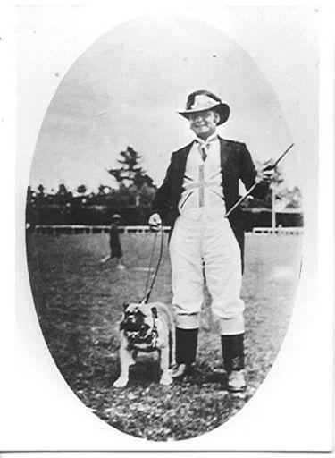 Mr W.G. Vickers dressed as John Bull, 1918