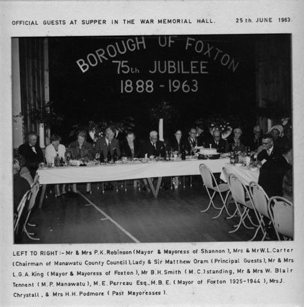 Borough Jubilee Dinner 1963