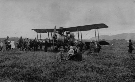 Biplane Giving Joy Rides to Locals, Shannon, c.1920